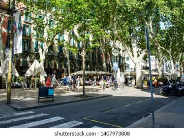 Spain. Barcelona 9 may 2019 Las Ramblas