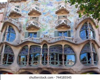 Spain Barcelona Casa Batllo, Antonio Gaudi
