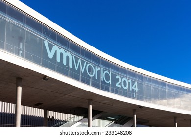 SPAIN, BARCELONA - OCTOBER 13, 2014: VMworld Business IT Conference from VMWARE