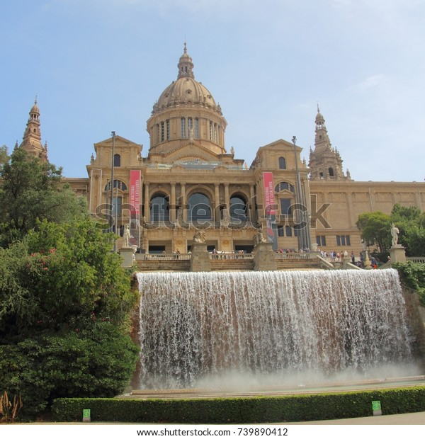 SPAIN, BARCELONA, PALAU NACIONAL  - AUGUST 02, 2017: Museu Nacional d'Art de Catalunya