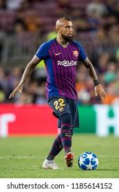 SPAIN, BARCELONA - September 18 2018: Arturo Vidal During the FC Barcelona - PSV Champions League Match