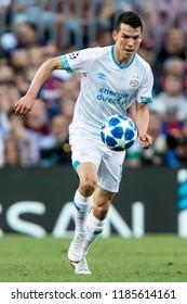 SPAIN, BARCELONA - September 18 2018:  Hirving Lozano during FC Barcelona - PSV
