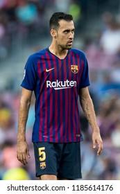 SPAIN, BARCELONA - September 18 2018: Sergio Busquets during FC Barcelona - PSV