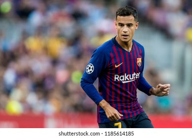 SPAIN, BARCELONA - September 18 2018: Coutinho during FC Barcelona - PSV