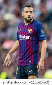 SPAIN, BARCELONA - September 18 2018: Jordi Alba during FC Barcelona - PSV