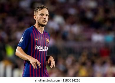 SPAIN, BARCELONA - September 18 2018: Ivan Rakitic during FC Barcelona - PSV