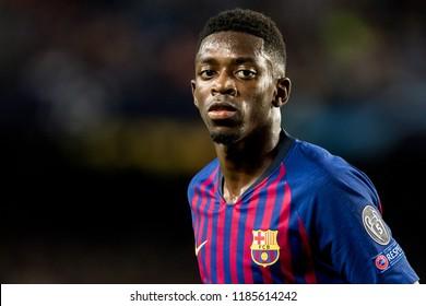 SPAIN, BARCELONA - September 18 2018: Ousmane Dembele during FC Barcelona - PSV