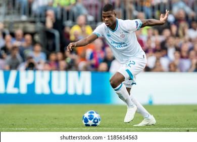 SPAIN, BARCELONA - September 18 2018:  Denzel Dumfries during FC Barcelona - PSV