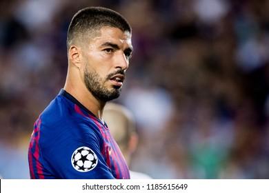 SPAIN, BARCELONA - September 18 2018: Luis Suarez during FC Barcelona - PSV