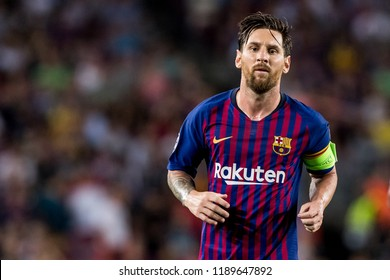 SPAIN, BARCELONA - September 18 2018: Lionel Messi During the FC Barcelona - PSV Champions League Match