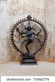SPAIN, BENIDORM - september 2017. Shiva -budhism dancing God, monument in Terra Natura park