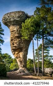 Spain, Castile La Mancha, Cuenca province, Serrano de Cuenca, Ciudad Encantada, Rock Formation
