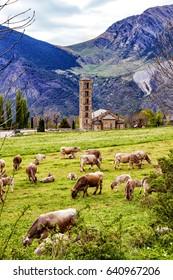 Spain Catalonia Bohi-Valley Romanesque church.