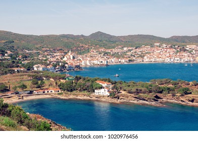 Spain. Catalonia. Cadaques on the Costa Brava. The famous tourist city of Spain. Nice view of the sea. City landscape.