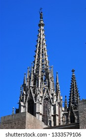 Spain, the central street of Barcelona - Rambla, Gothic quarter