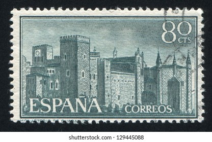 SPAIN - CIRCA 1959: stamp printed by Spain, shows Monastery of Guadalupe, circa 1959