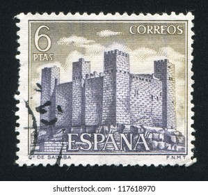SPAIN - CIRCA 1970: stamp printed by Spain, shows Sadaba, circa 1970