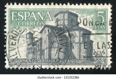 SPAIN - CIRCA 1971: stamp printed by Spain, shows San Mart���±n de Fromista, circa 1971
