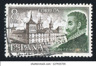 SPAIN - CIRCA 1973: stamp printed by Spain, shows Juan de Herrera and Escorial, circa 1973