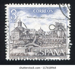 SPAIN - CIRCA 1975: stamp printed by Spain, shows San Pedro Church, circa 1975