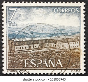 SPAIN - CIRCA 1976: A stamp printed in the Spain shows Gredos, Avila, Spain, circa 1976