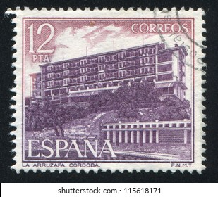 SPAIN - CIRCA 1976: stamp printed by Spain, shows La Arruzafa, Cordoba, circa 1976