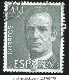 SPAIN - CIRCA 1993: stamp printed by Spain, shows King Juan Carlos I, circa 1993