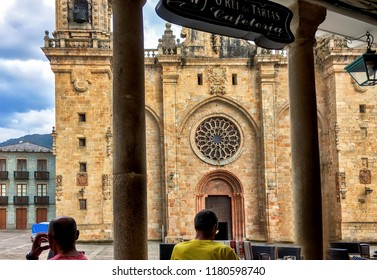 Mondoñedo, Spain. Circa August 2018. View of historic cathedral of Mondoñedo in Galicia, Spain.