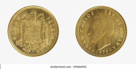 Spain coins1 pesetas