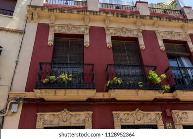Spain, Cordoba, Europe,  LOW ANGLE VIEW OF RESIDENTIAL BUILDING