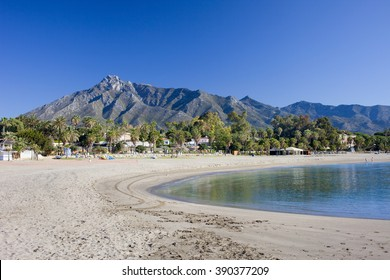 Spain, Costa del Sol, Marbella beach, popular vacation destination