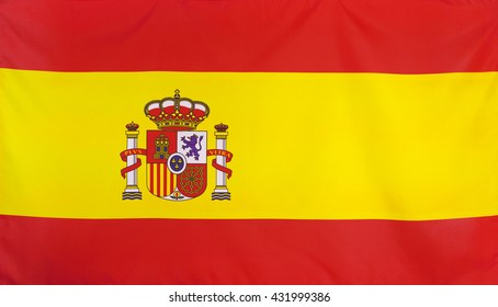 Spain Flag real fabric seamless close up