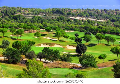 Spain, the golf course Las Colinas Golf Country Club on the costa blanca,