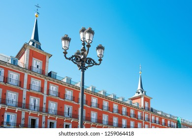 Spain, Madrid, the ancient palaces of Plaza Mayor