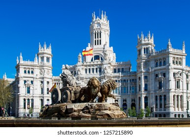 Spain, Madrid, april, 10-2018: cibeles square