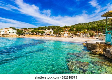Spain Majorca, beautiful beach of Sant Elm, Mediterranean Sea, Balearic Islands.