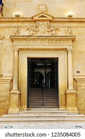Úbeda, Spain - Mar 25, 2013: Palace of Dean Ortega in Ubeda. Renaissance city in the province of Jaén. World heritage site by Unesco. Andalusia, Spain