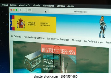 Spain; March 23, 2018; Website of the Ministry of Defense of Spain