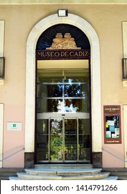 Cádiz, Spain - May 28, 2019: Cadiz Museum. Museum of Archeology, Fine Arts and Ethnography located in the Square of Mina (Plaza de Mina).