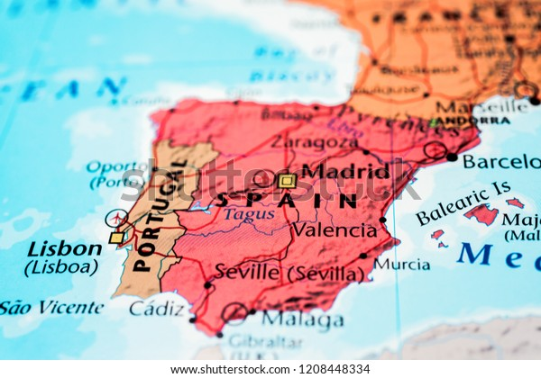 Spain on the map