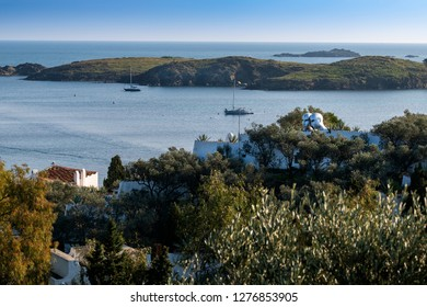 Spain, Port Lligat, 27 December , 2018,  small Mediterranean village. overlooking the bay of Cap de Creus, and home to the Spanish , surrealist artist Salvador Dalí for almost three decades.