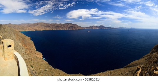 Spain, seaside, sea and mountains