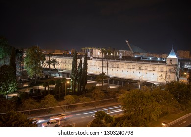 Spain Seville Andalusia parliament view at night - Macarena area