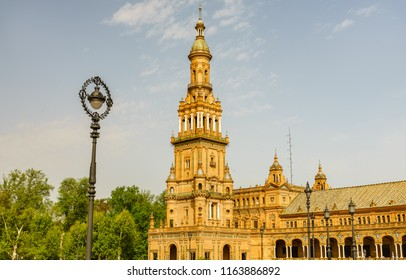 Spain Square or Plaza de Espana is a square in the Maria Luisa Park, in Seville, Spain. A mix of Regionalism Architecture with Renaissance and Moorish styles.