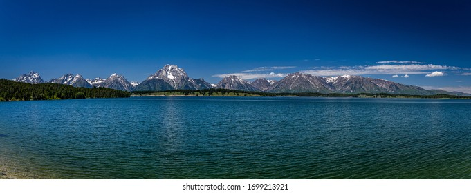 Spalding Bay at Grand Teton National Park in the Rocky Mountains of Wyoming.