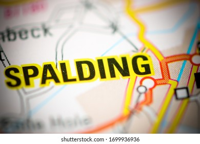 Spalding on a geographical map of UK