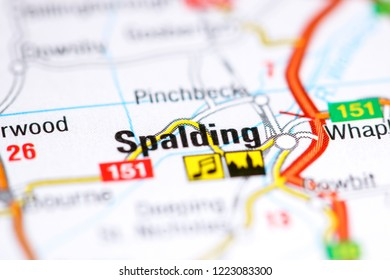 Spalding. United Kingdom on a map