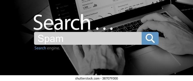 Spam Advertisement Phishing Virus Security Concept