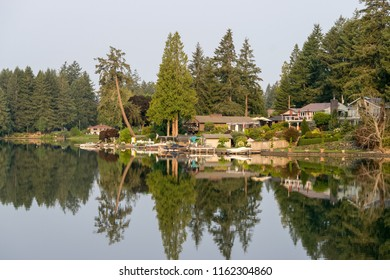 Spanaway Lake in Tacoma Washington in late summer