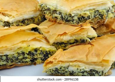 Spanikopita (Feta Cheese & Spinach Pie) - Greek